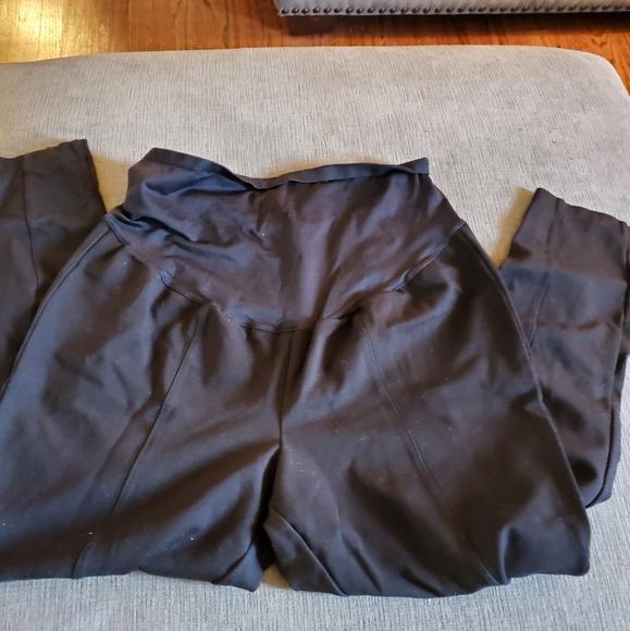 Black Old Navy Maternity Stevie Full-Panel Ponte-Knit Pants Size S NWT